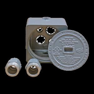 caja, conexión, cableado, paso, dispensadores de gasolina